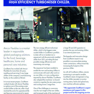 AMCOR FLEXIBLES INSTALLS ANOTHER HIGH EFFICIENCY TURBOMISER CHILLER