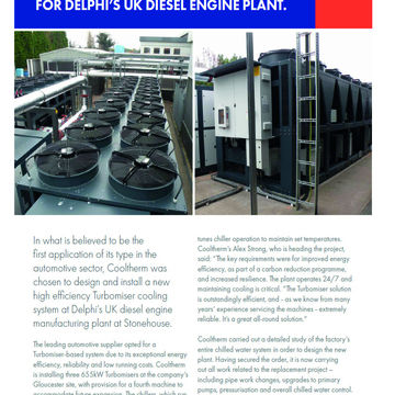 HIGH EFFICIENCY COOLING SOLUTION FOR DELPHI'S™ UK DIESEL ENGINE PLANT