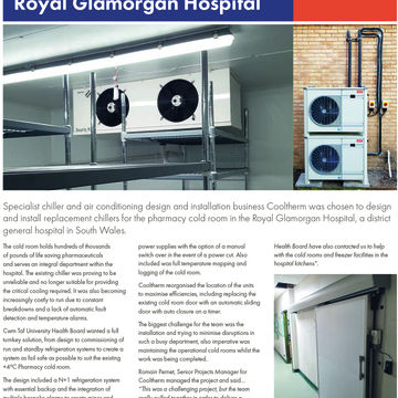 Bespoke Chiller Install at Royal Glamorgan Hospital