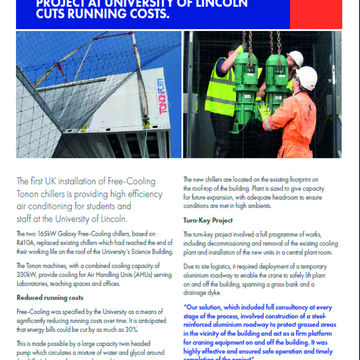 FREE-COOLING CT CHILLERS PROJECT FOR UNIVERSITY OF LINCOLN