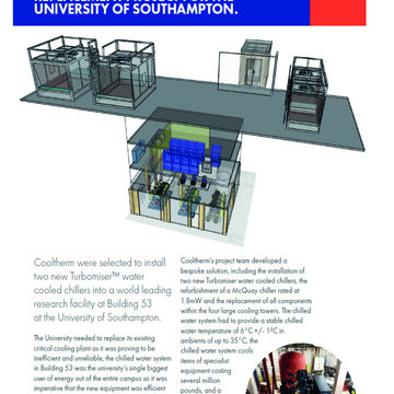 INNOVATIVE CHILLER REPLACEMENT PROJECT FOR THE UNIVERSITY OF SOUTHAMPTON