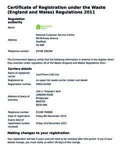 Waste Carrier Registration